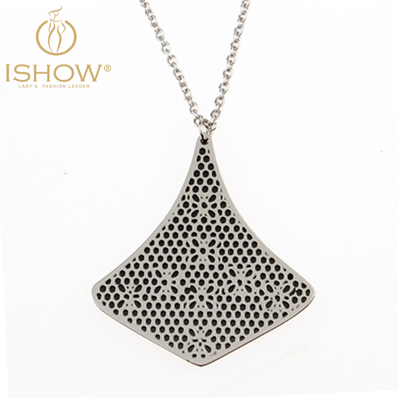 Hot selling vintage necklace collier sautoir long stainless steel chain flower choker necklace silver necklaces pendants jewelry(China (Mainland))