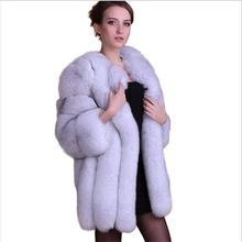 2016 New import European women Fashion Winter Women Fur vest Luxurious High Quality artificial Fox Fur Coat All sorts new color(China (Mainland))