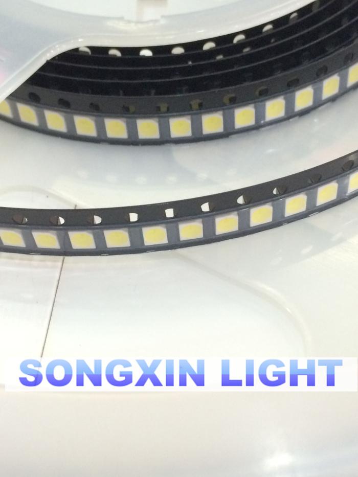 100PCS/LOT 1210 white 3528 SMD LED bright white light-emitting diodes 5000-7000k 6-7lm 2000-2200mcd 2.8-3.6v 3528 Cool white(China (Mainland))