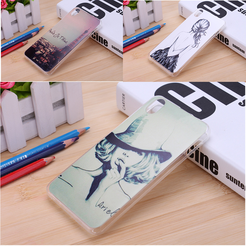 Hot ! 20 Patterns Sexy Girl Eiffel Tower Flower Printed Soft Silicone Rubber TPU Phone Back Cover Lenovo S850 Case Lenovo S850T(China (Mainland))
