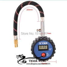 Free Shipping New Universal Car Diagnostic tool Motorcycle Auto Digital Tire Gauge Tyre Air Pressure Meter Tool D-1965(China (Mainland))