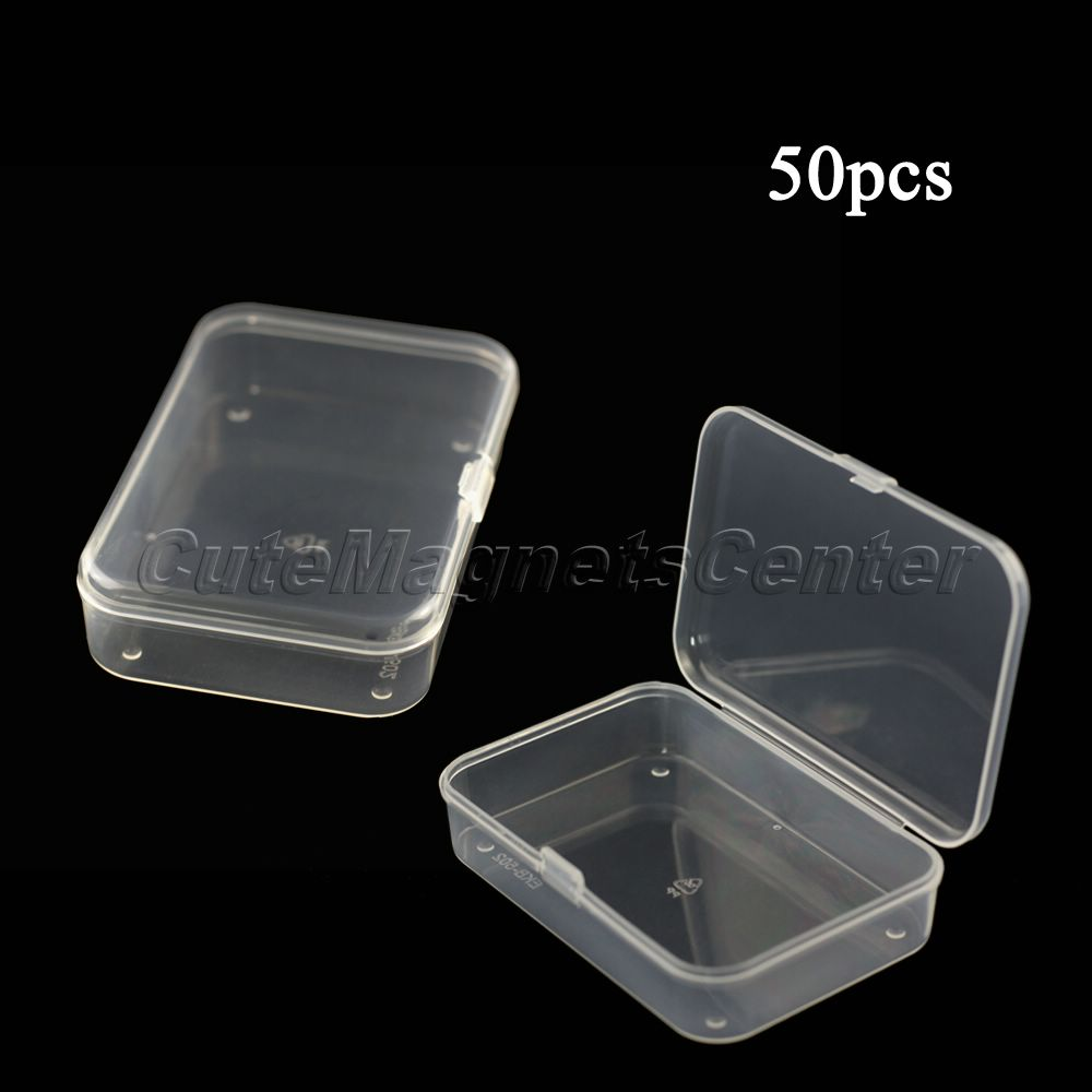 50PCS/lot High Quality Wholesale Plastic Universal Clear Transparent Container Storage Box Case New Hot Sale(China (Mainland))