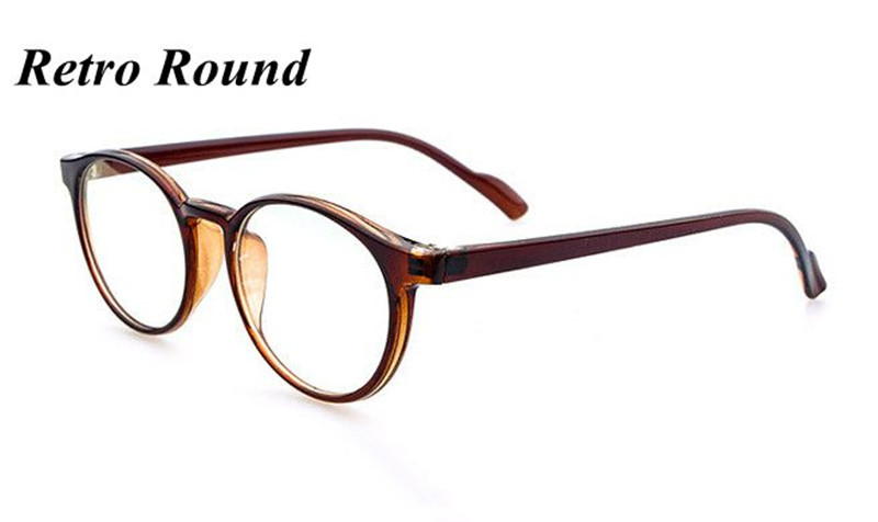 retro vitage brand round frame plain computer eyeglasses for men women optical myopia eye glasses frame