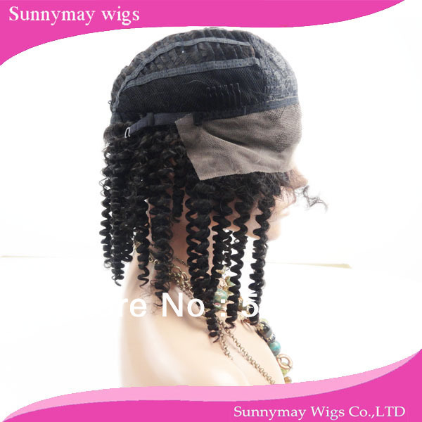 Hot selling beautiful curly Peruvian virgin hair front lace wig with baby hair for black women<br><br>Aliexpress