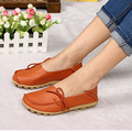 New Arrive Flats Women Four Seasons 2016 Casual Shoes Women Flat Heel Cow Muscle Outsole Fashion