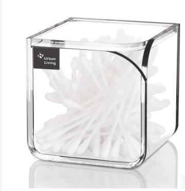 New Luxury high quality swab cotton clamshell storage boxes transparent acrylic material small accessories storage bins(China (Mainland))