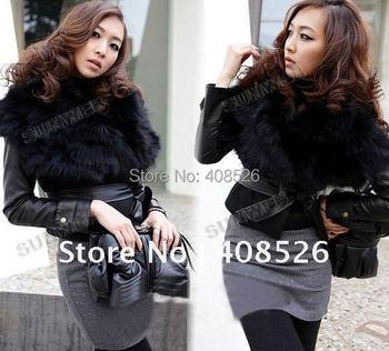 New Women's Faux Fur Vest Sunday Angora Yarns Coat Sleeveless Women's Outerwear Black free shipping 41