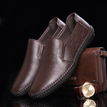 Men Shoes Casual Genuine Leather 2015 New Summer Driving Moccasins Mens Slip-On Shoes Boat Loafers(China (Mainland))