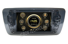 FOR VW SEAT IBIZA(2009-2013)  CAR DVD gps  ,BT phone book Virtual 6CD  GPS  multimedia  3G Radio SWC DVR stereo audio