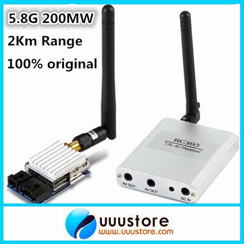 100% original  Boscam 5.8Ghz 200mW 8 Channel FPV Audio Video Transmitter&amp;Receiver  TS351+RC305 For DJI Phantom 2Km Range<br><br>Aliexpress