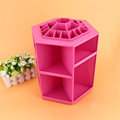 1Pcs New Style 360 degree Brush Holder Jewelry Organizer Boxes Makeup Cosmetic Storage Box Case