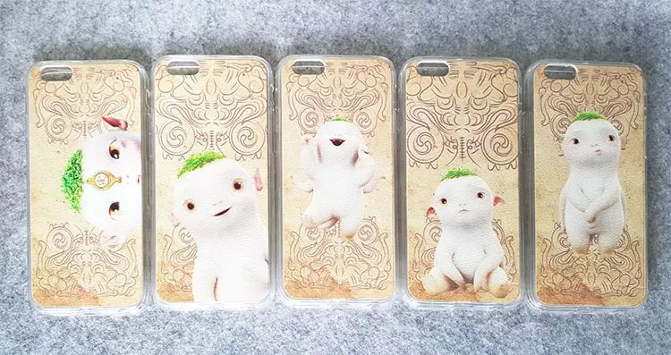 2015 New arrival cute cartoon Hu Ba phone case shell protective soft painting silicone TPU case cover for iphone 6 4.7inch(China (Mainland))