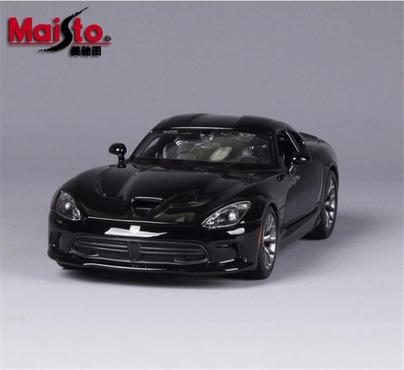 1:24 Alloy Diecast Automotive Mannequin 2013 Dodge Viper SRT GTS Quick & Livid 1/24 Scale MAISTO Mannequin Automotive W Gentle & Sound Automotive Youngsters Toys