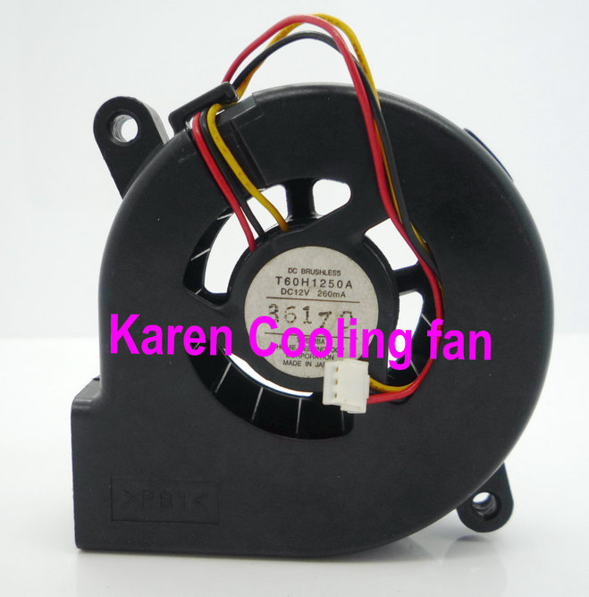 T60H1250A 6025 12V 260mA Blower cooling fan(China (Mainland))