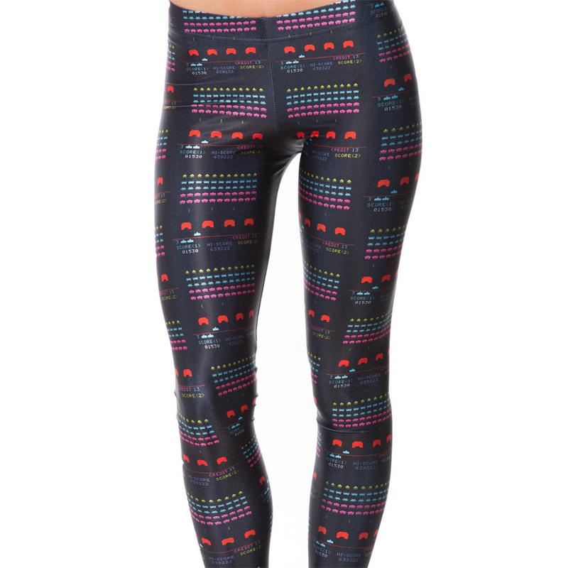 New Design Leggings Women Space Geometric Print Pants Striking Leggings Free Size Adventure Time ...