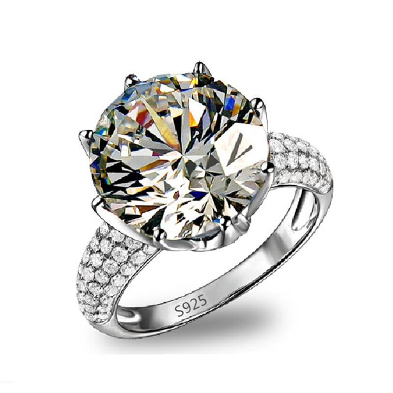 White Gold 585 Big Round Ring CZ Diamond Jewelry Luxury Engagement Wedding Bague For Women Vintage Bijoux Accessories Anel BB064(China (Mainland))