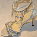 2015 New Wedding luxury Shoes wedding Bridal Dress shoes lady nice sandals Summer Party Prom Dress