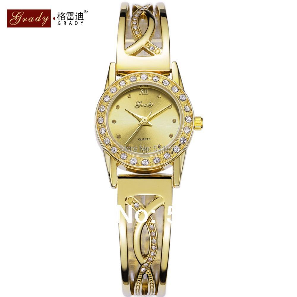 5atm water resistant watches fashion gold quartz