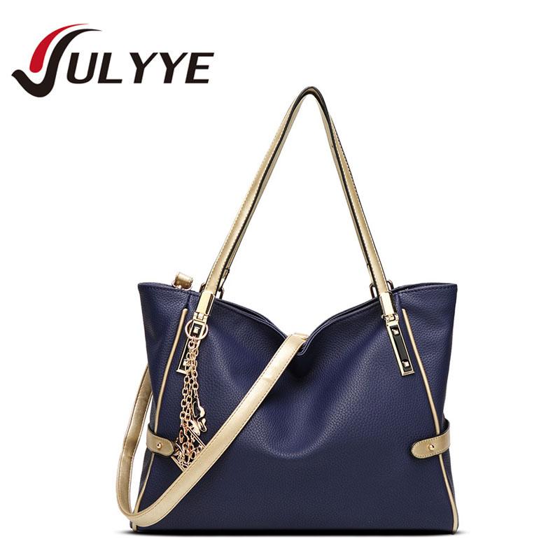 2016 New Women Pendant Bag PU Leather Famous Band Designer Tote Shoulder Handbags Large Capacity Women's Handbag Bolsos Bags(China (Mainland))