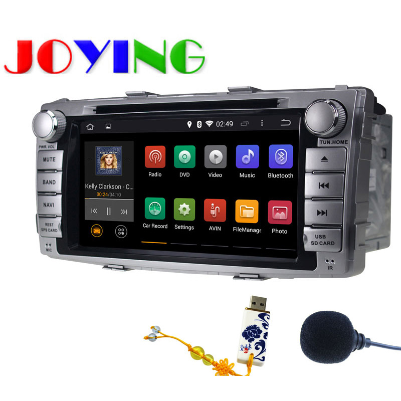 KD 7 2 Din Android 4.4 Car Radio Stereo Audio Head Unit DVD Player For 2012-2014 Toyota Hilux with GPS Navi Navigation System(China (Mainland))