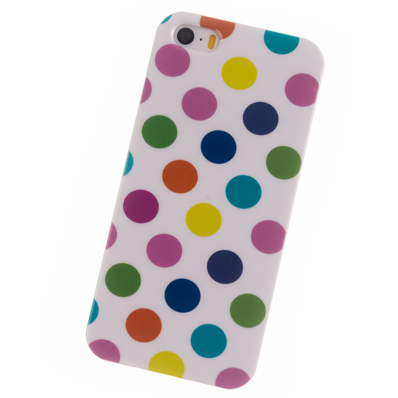 Phone Cases iPhone 5S case i5 SE Polka Dot soft Silicone Cover mobile phone bags & cases Brand New Coque Accessories - Cuptakes Official Store store