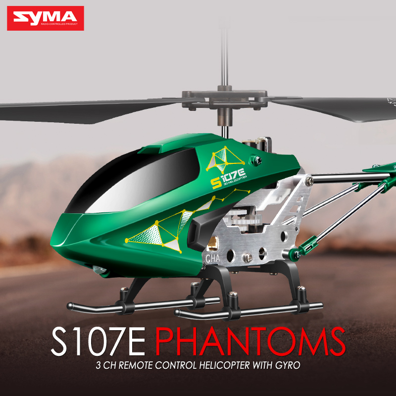 Promotion Green Syma S107E 2.4G 3CH Gyro RC Quadcopter High Quality Colorful  Flashing Lights Drones Mini Helicopter Toys Gifts