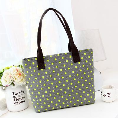 Korean style women big larg capacity canvas dot print shoulder bag lady totes leisure handbag fashion trendy mochila mami bag(China (Mainland))