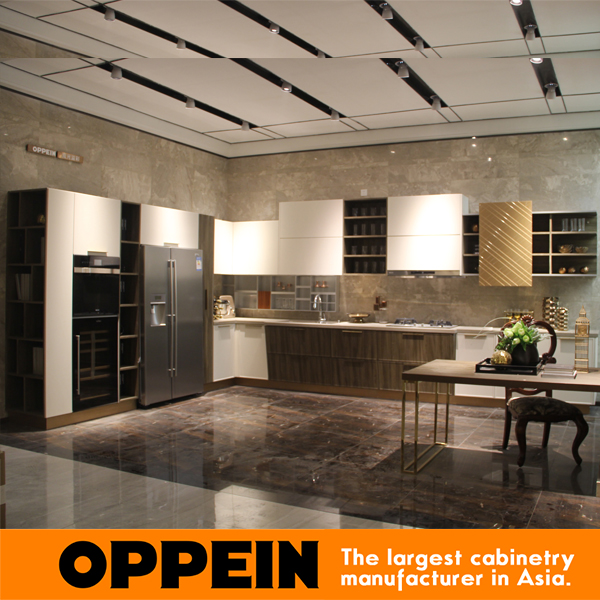 kitchen cabinet white Lacquer customer made kitchen cabinetry Blum Hardware kitchen cabinet OP16-122(China (Mainland))