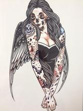 NOVA CHEGADA 21X15 CM Zumbi Menina Tatuagem Temporária Etiquetas Da Arte Corporal Temporária À Prova D' Água #111