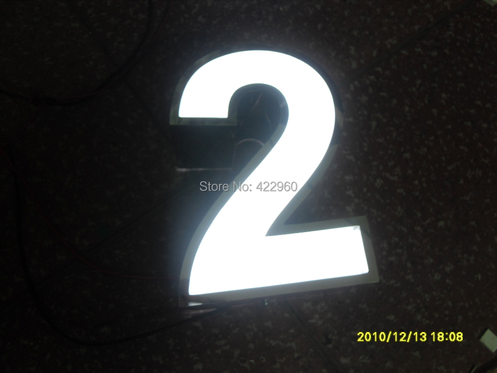 Factoy outlet outdoor acrylic led house letters and Led house numbers