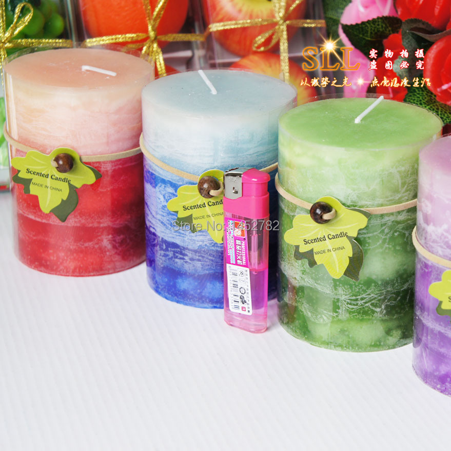 1pc 7 5x10cm daily aromatherapy scented flameless candles for Decoration wax