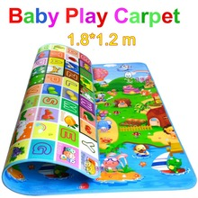 Promotion double-Side 1.8 * 1.2m baby crawling mat soft play carpet child game mat indoor and outdoor rug picnic mat PXD0012(China (Mainland))