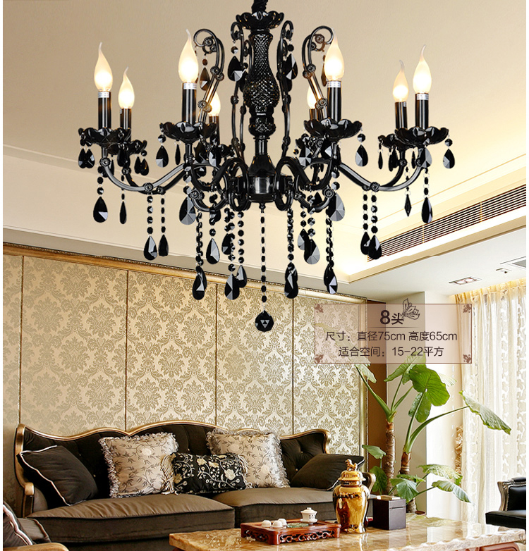 lustre en fer noir promotion achetez des lustre en fer noir promotionnels sur. Black Bedroom Furniture Sets. Home Design Ideas