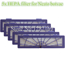 5 pieces/lot Robot HEPA Dust Filter for Neato BotVac 70e,75,80,85 series Robotic Vacuum Cleaners