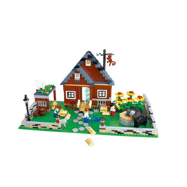 1 Box 719pcs Happy Farm series 34201 Action Figures Building Block Toys Compatible With Lego free shipping LR-374(China (Mainland))