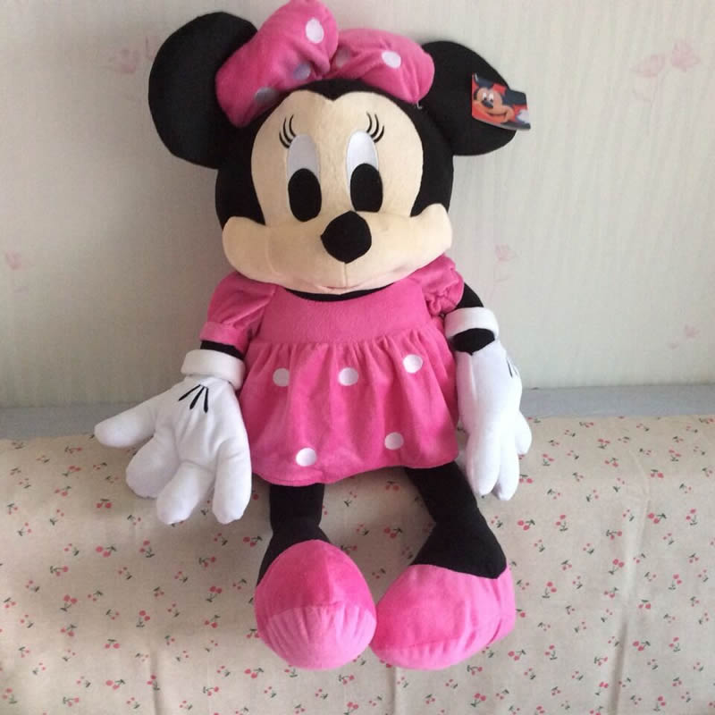 Free Shipping 70cm=27.5'' Giant Pink Minnie Mouse Stuffed Animal Doll Plush Girl Toys For Birthday Gifts(China (Mainland))