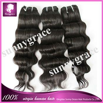 Aliexpress sally hair extensions #1 virgin Eurasian wavy hair extension(China (Mainland))