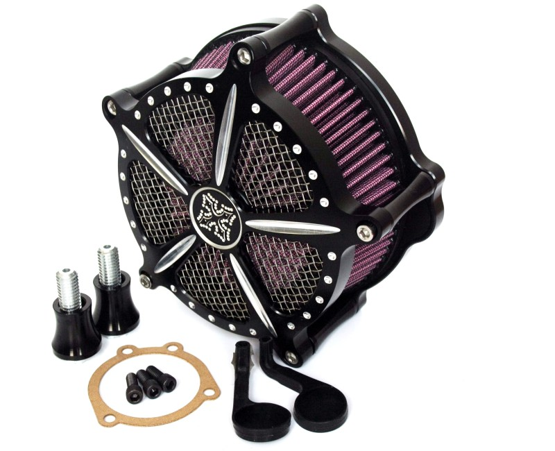 CNC Cross Air Cleaner Filter Kit For Harley Sportster XL 883 1200 1991-2014(China (Mainland))
