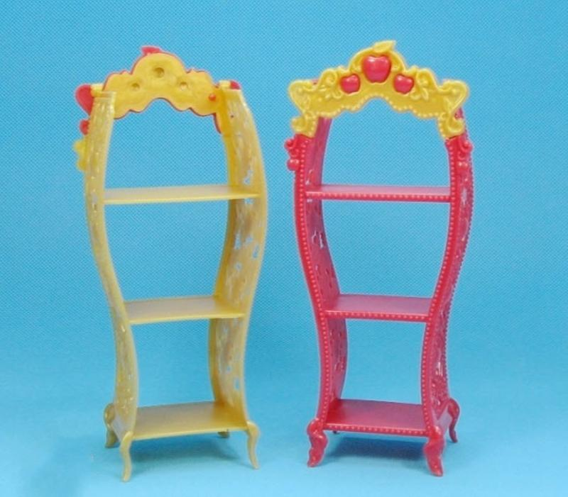 2pcs/lot Doll Furnishings Children Playhouse Sneakers Rack For Barbie Dollhouse Storage Racks For Monster Excessive Dolls