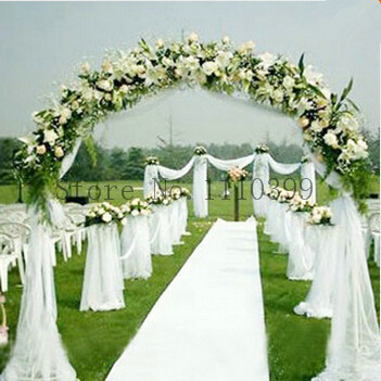 12 colors 1000cm*50cm White Roll Soft Crystal Sheer DIY Organza Fabric Wedding Chair Sash Bows Swag Party  wedding Decoration(China (Mainland))