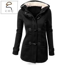 Winter Jacket Women Hooded Winter Coat Fashion Autumn Women Parka Horn Button Coats Abrigos Y Chaquetas