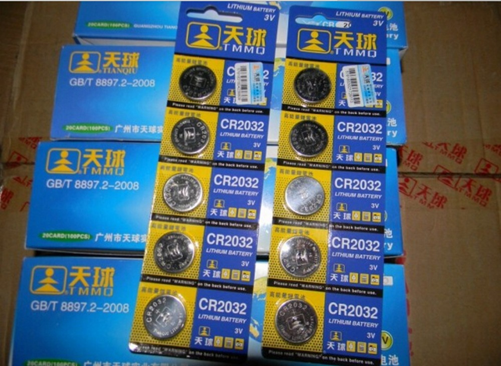 5pcs Lot lr44 CR2032 3V Cell Battery Button Battery Coin Battery cr 2032 lithium battery For