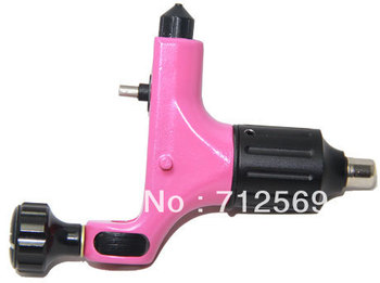 Rotary tattoo machine pink high quality tattoo machine gun RCA shader and liner hot sale