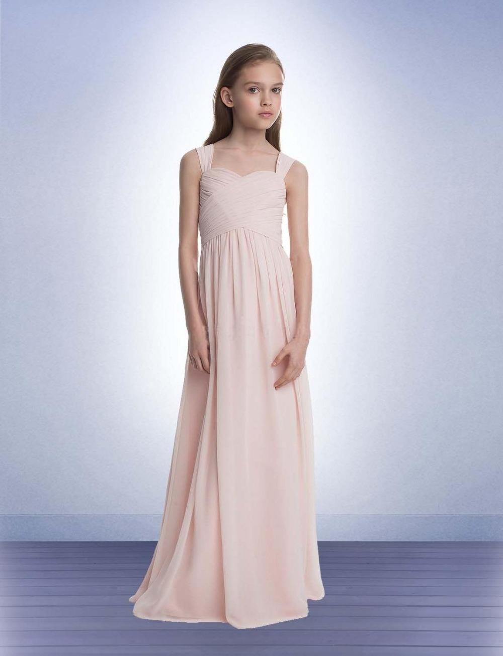 Popular Junior Bridesmaid Dress Blush Pink-Buy Cheap Junior ...