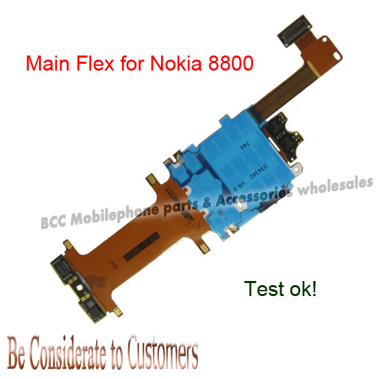 100% original Guarantee For Nokia Lumia 8800 8800A 8801 Arte Slide Slider Keypad board LCD Main Flex Ribbon Cable best quality(China (Mainland))