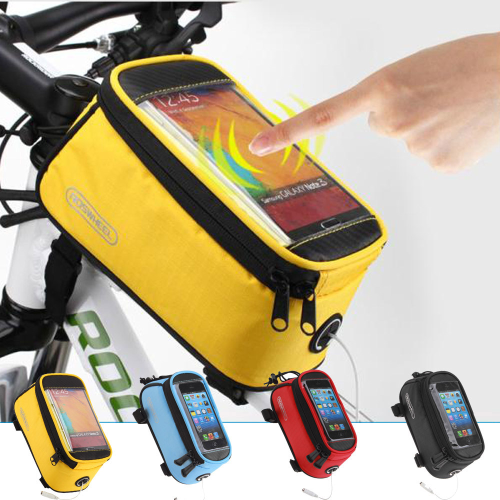 "2015 new 4.2"" 4.8"" 5.5"" Bike Bicycle Cycle Cycling Frame Tube Panniers Waterproof Touchscreen Phone Case Reflective Bag,7 Colors(China (Mainland))"