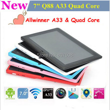 7 inch tablet pc Q88 allwinner a13 Android 4.1 Capacitive touchscreen wi fi camera Chinese oem tablet