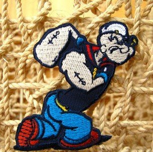 POPEYE Embroidered Iron On Patch Applique Badge Children Cartoon Patch(China (Mainland))