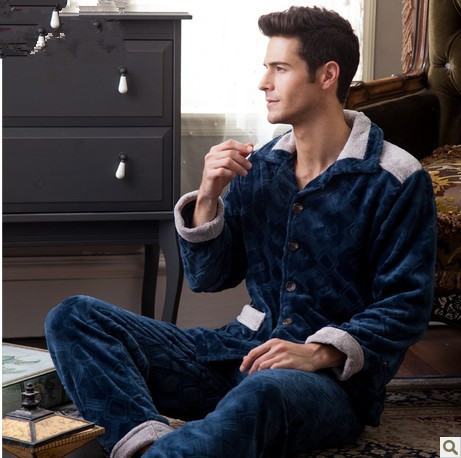 sleepwear set Picture - More Detailed Picture about Luxury Men ...
