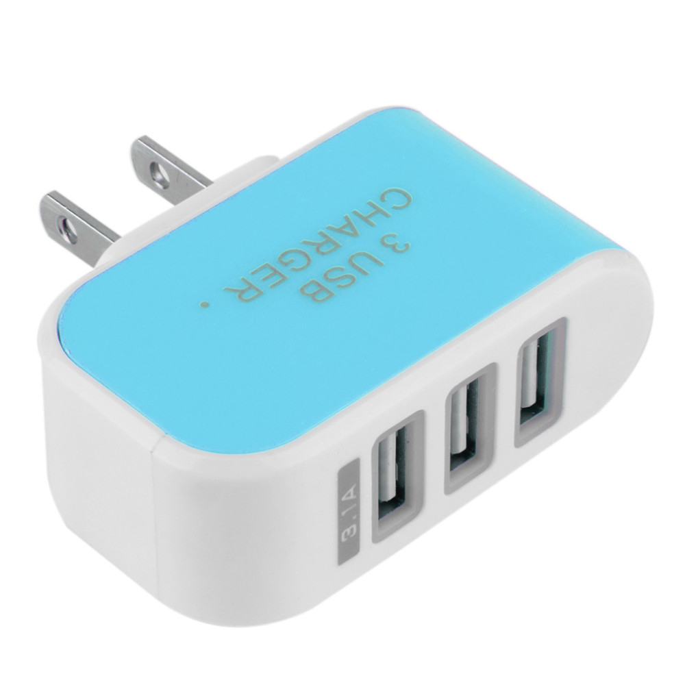 EU US New Triple USB 3 Ports Wall Home Travel AC Power Charger Adapter 3.1A US for SAMSUNG FOR IPHONE(China (Mainland))